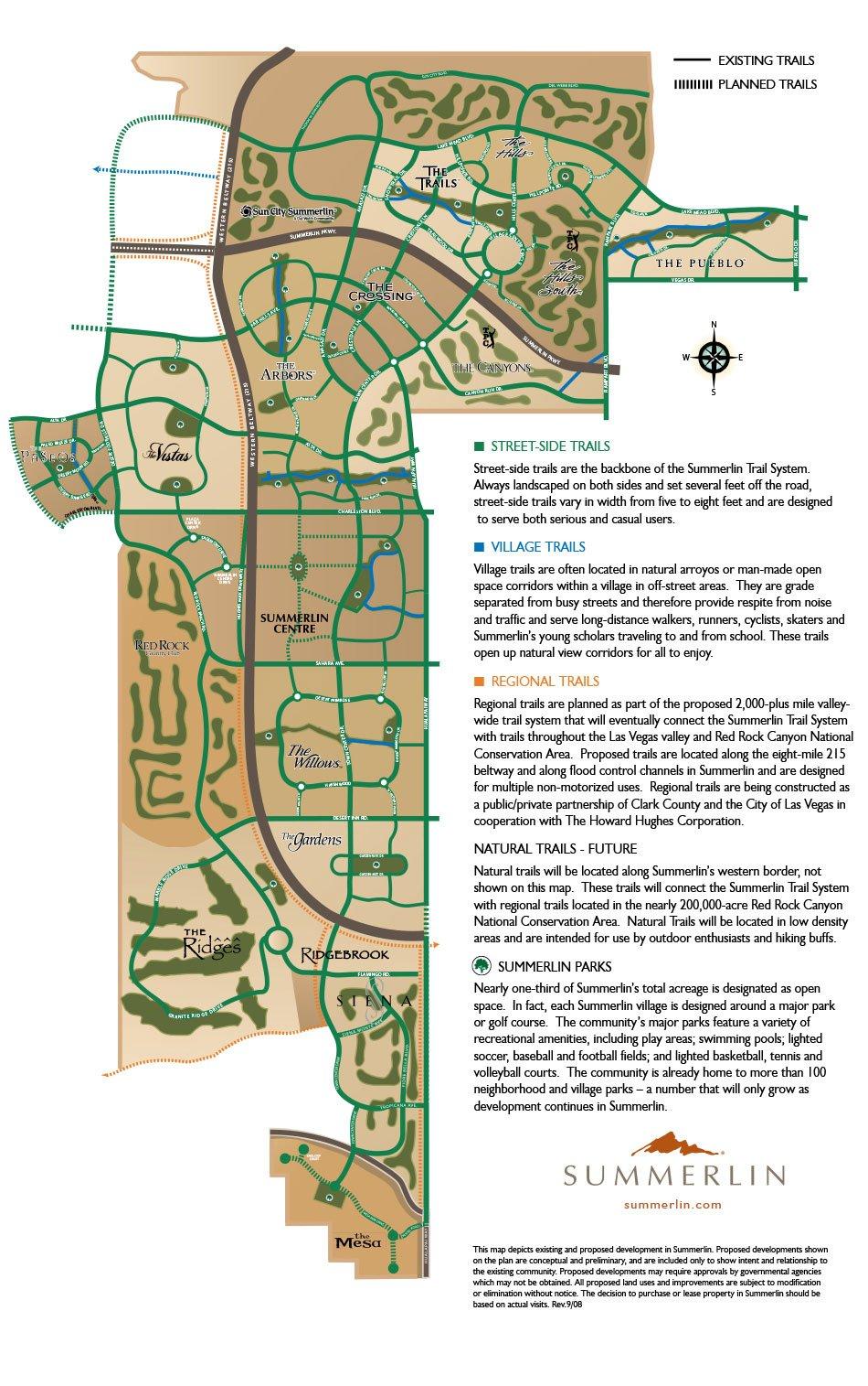 Summerlin Trail Map