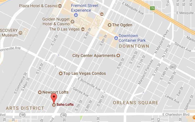 SOHO Downtown Condos Location