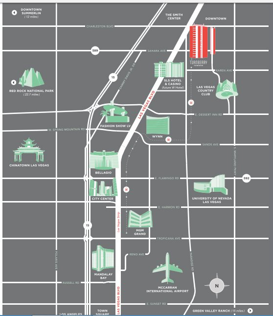 Turnberry Towers Las Vegas Location Map