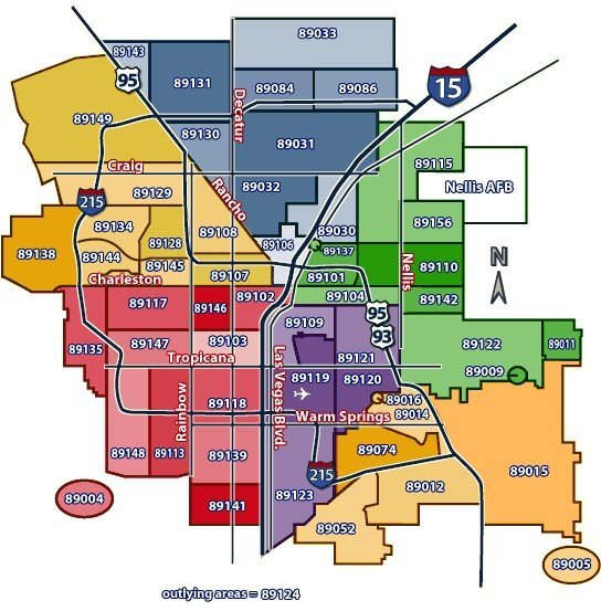 Las Vegas Area Code Map LAS VEGAS Homes for Sale by ZIP Code   Call #1 702 882 8240 Las Vegas Area Code Map