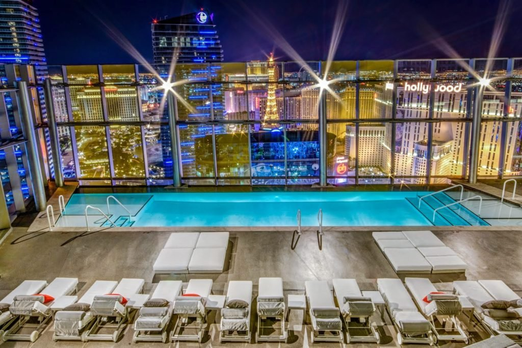 Veer Rooftop Pool Night View