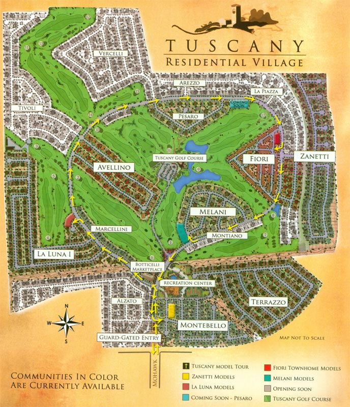 Tuscan Village Henderson Map