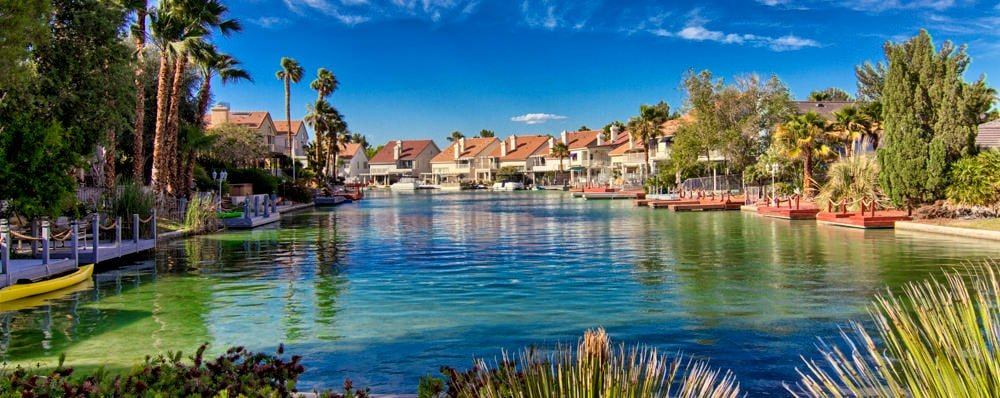 Desert Shores homes on the waterfront