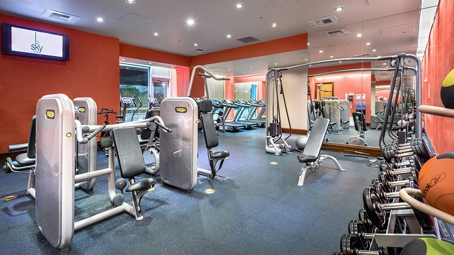 Sky Las Vegas fitness gym area