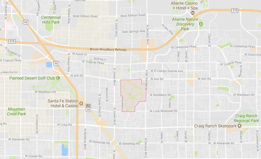 Los Prados Las Vegas Map