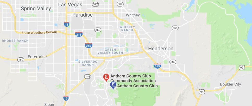 Anthem Country Club Henderson NV Map Location