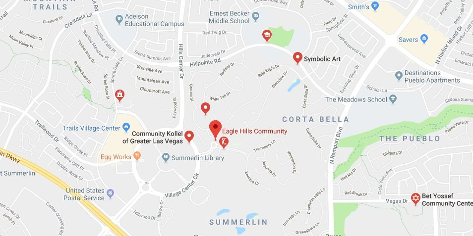 Eagle Hills Las Vegas Homes community - map