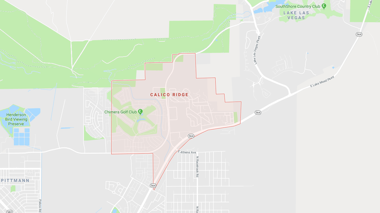 Calico Ridge Community LV - map