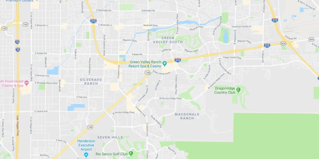 Green Valley Las Vegas Homes community - map