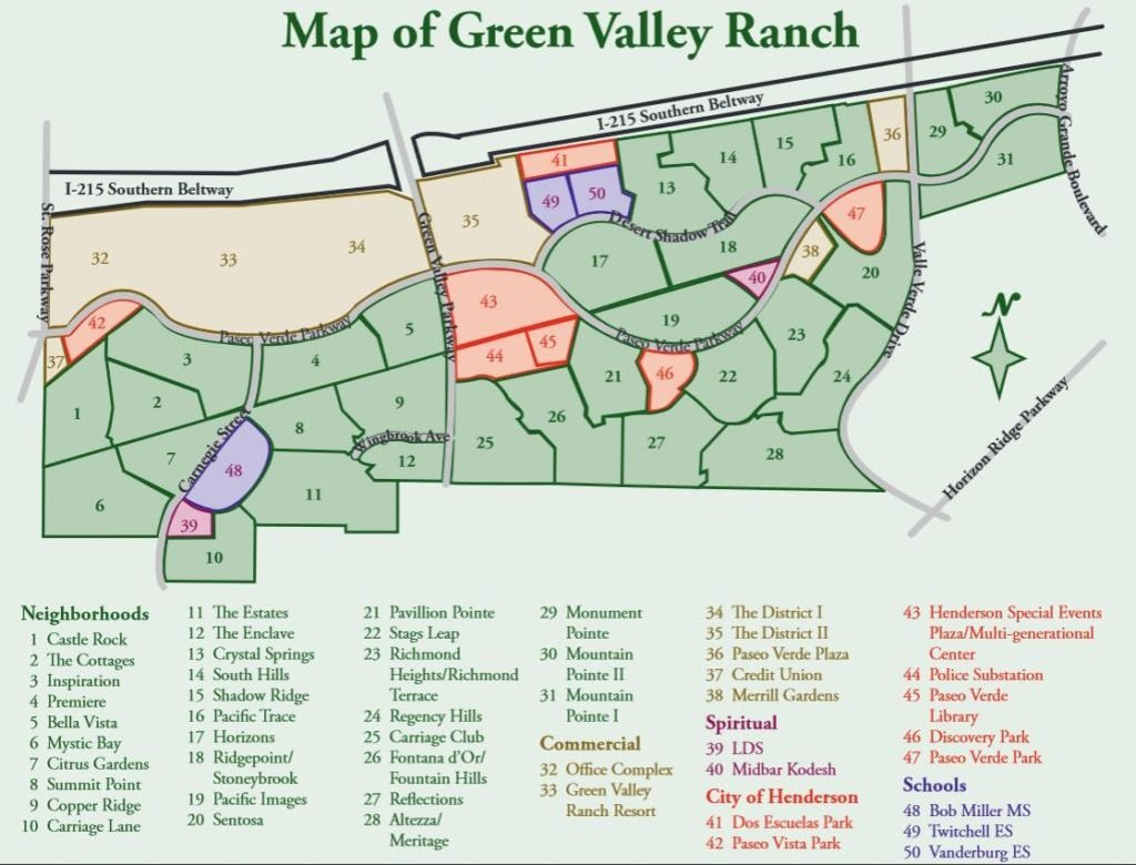 Map of Green Valley Ranch
