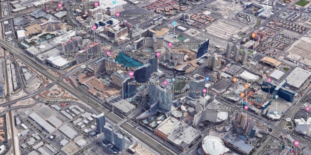 Vdara Las Vegas Condos for Sale - 3d map