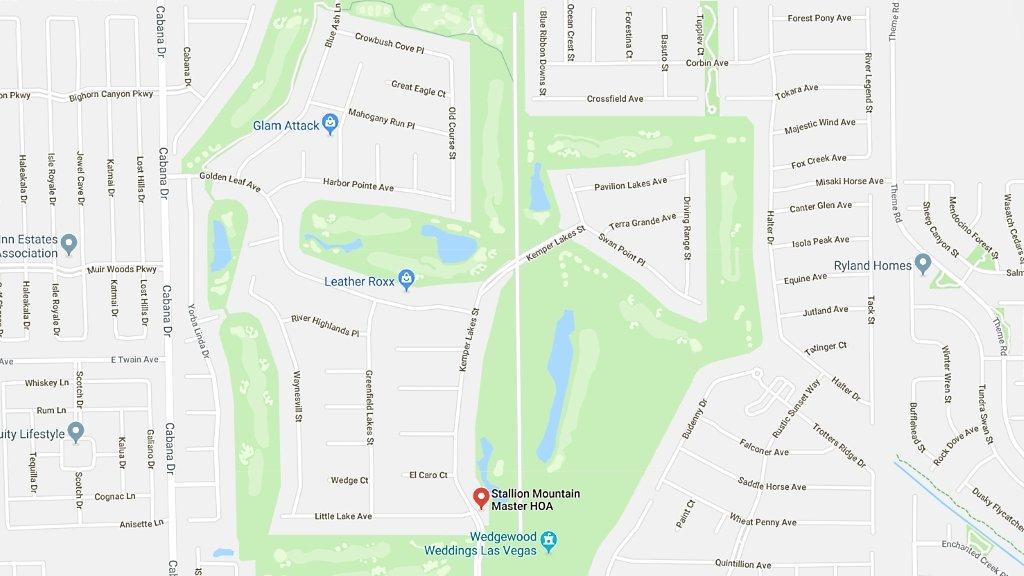 Stallion Mountain Las Vegas Homes for Sale map