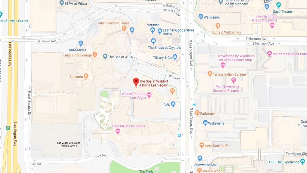 Waldorf Astoria Las Vegas Condos for Sale map