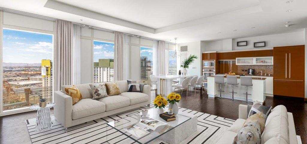 Waldorf Astoria Las Vegas Condos for Sale room view