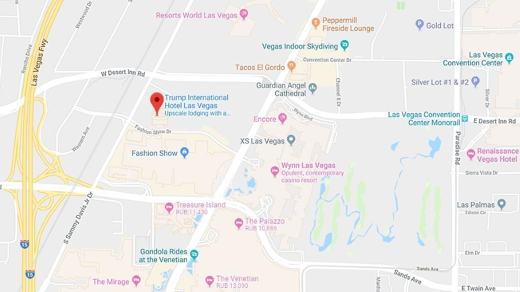 Trump Condos Las Vegas for Sale map