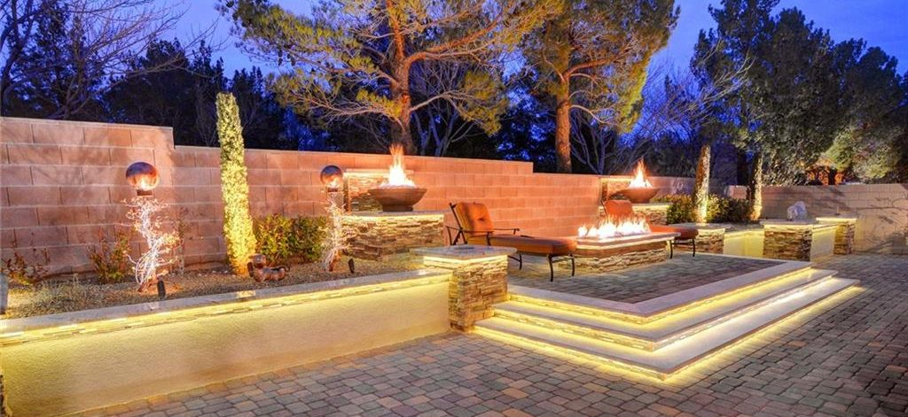Masters at Southern Highlands Las Vegas Homes for Sale backyards