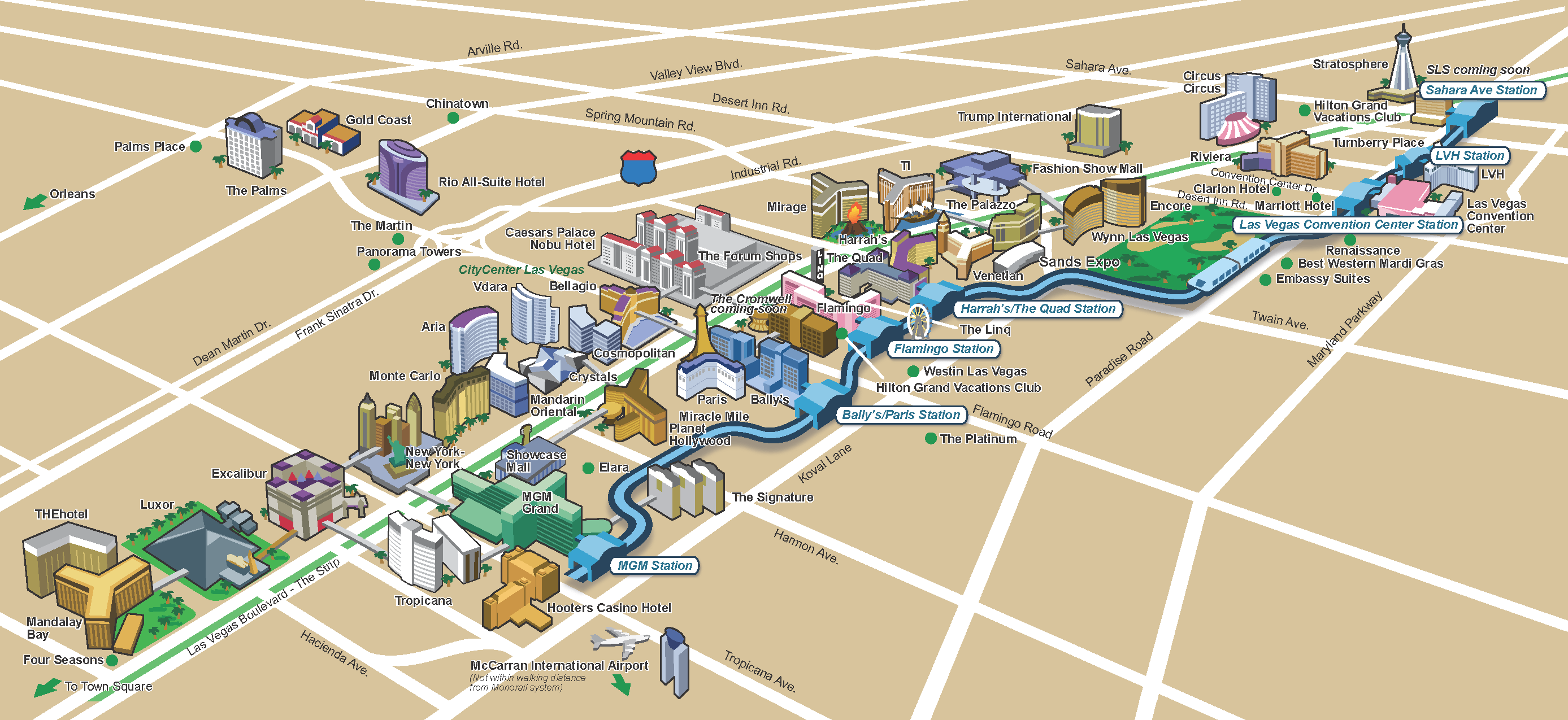Monorail las vegas map