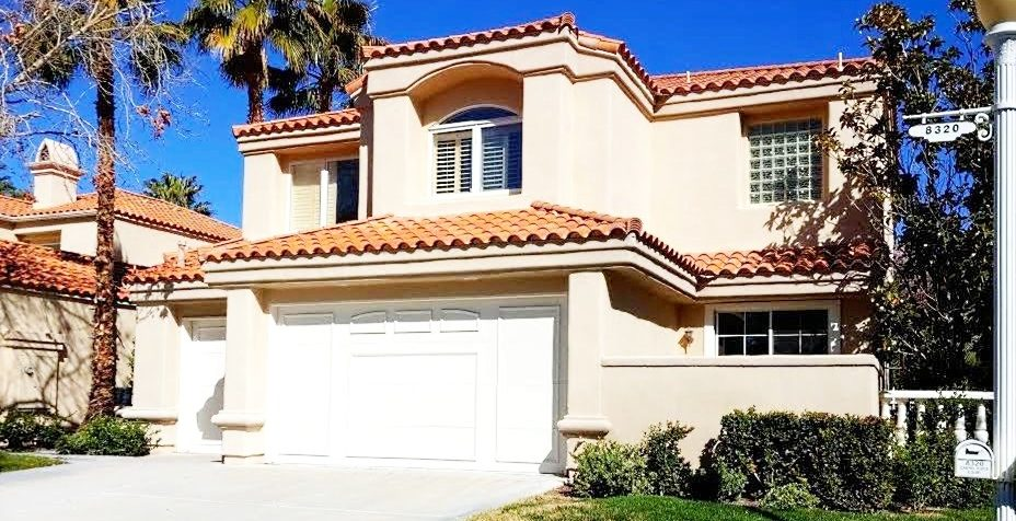 Patios at Spanish Trail Las Vegas Homes for Sale home front view