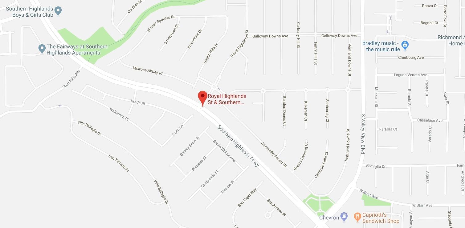Royal Highlands At Southern Highlands Las Vegas Homes for Sale map