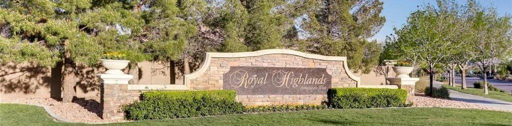 Royal Highlands At Southern Highlands Las Vegas Homes for Sale neighborhood