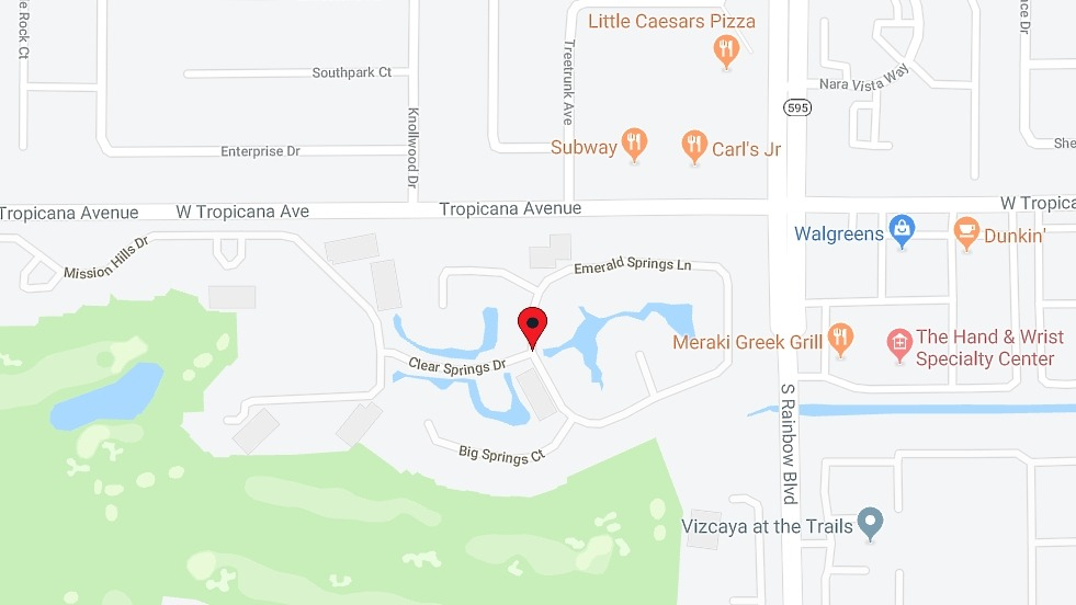 Springs at Spanish Trail Homes for Sale in Las Vegas map